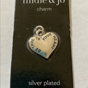 3/$10 NWT silver plated heart charm